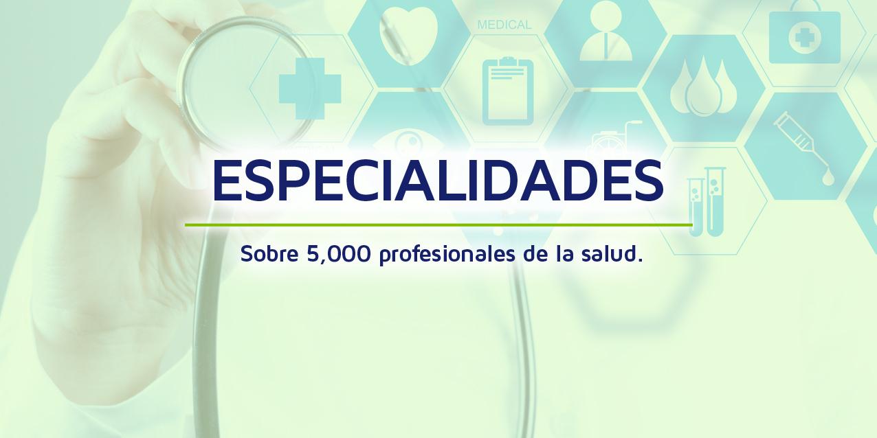 Conozca todas las especialidades disponibles para nuestros pacientes internacionales