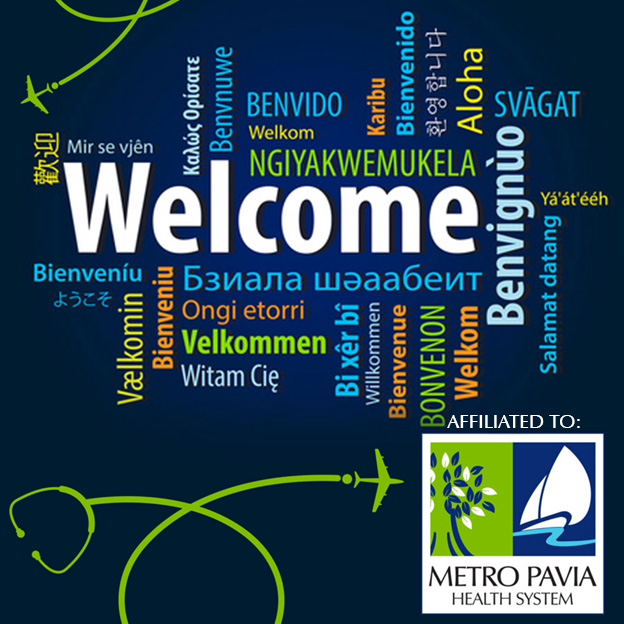 Image of Welcome Page at Metro Pavia Medical Tourism